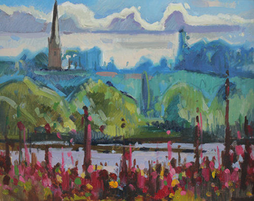 Ross on wye painting
